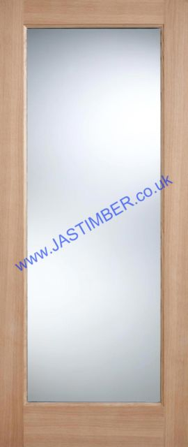 PATTERN 10 Glazed DOOR: 1-light *Clear Double Glazed* *OAK* 44mm Dowel Warmer External Door - LPD Doors