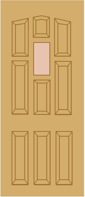 "YORK Unglazed DOOR: 1-light *Unglazed* Wide Rail [Hardwood] M&T 1.75"" External Door - LPD Doors"