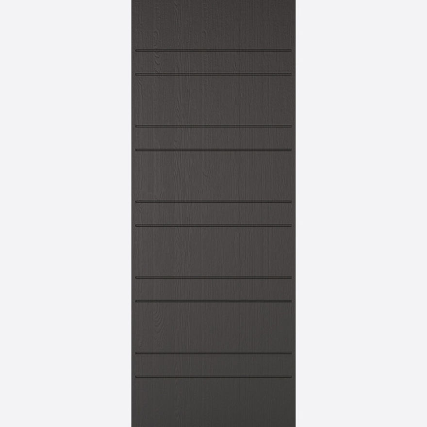 Newmarket Charcoal Grey Embossed External Door