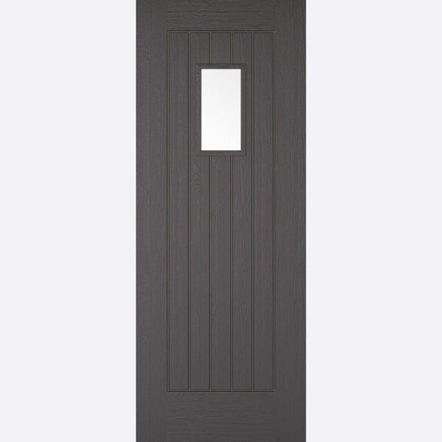 Suffolk Glazed Charcoal Grey Embossed External Door