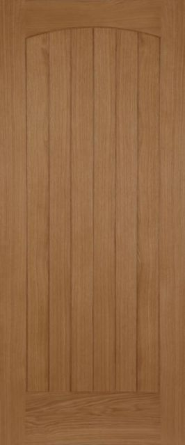 CHEVRON DOOR: T&G Effect OAK 44mm External Door - Mendes Doors