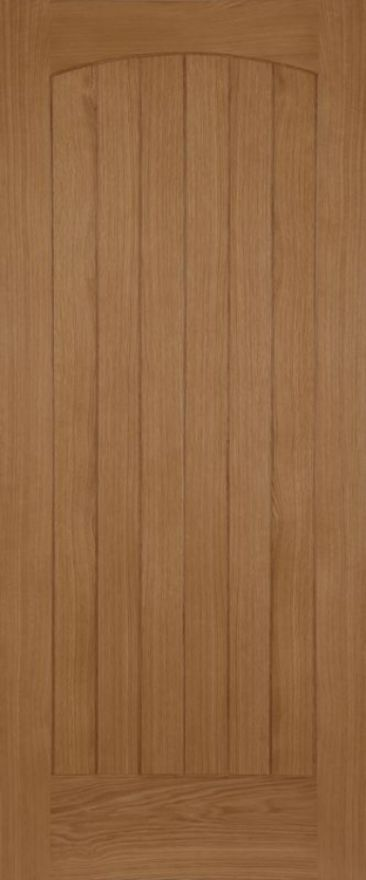 Chevron Oak External Door