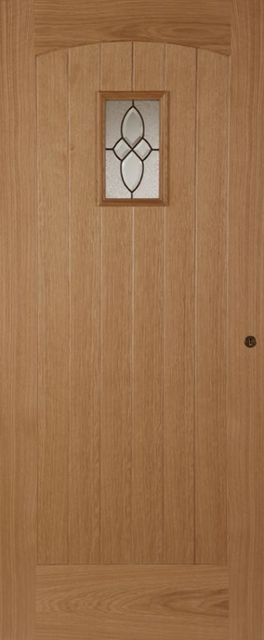Cottage Glazed Door: 1-light *Triple Glazed* Oak 44mm External Door - Mendes Doors