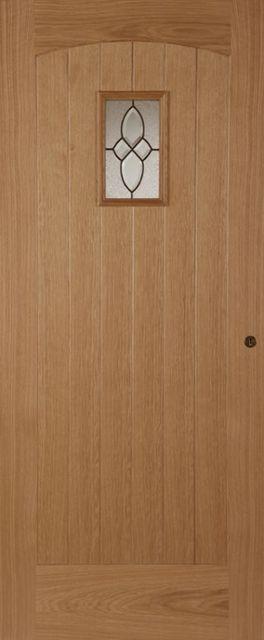 Cottage Glazed Door 1-light *Triple Glazed* Oak 44mm External Door - & Mendes Traditional Oak External Doors | JAS Timber