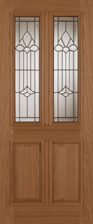 Derby Chameleon Glazed Oak External Door