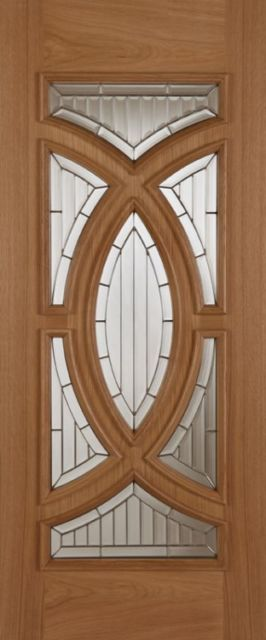 MAJESTIC Glazed DOOR: 7-light *Triple Glazed* Oak 44mm External Door - Mendes Doors