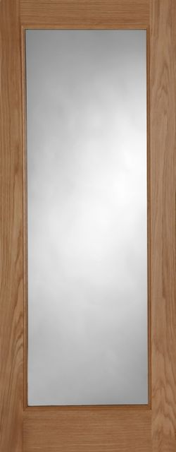PATTERN 10 Unglazed DOOR: 1-light *Unglazed* Oak 44mm External Door - Mendes Doors