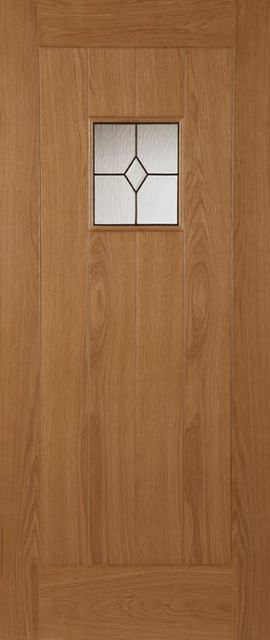 THAMES Glazed DOOR: 1-light *Triple Glazed* Oak 44mm External Door - Mendes Doors