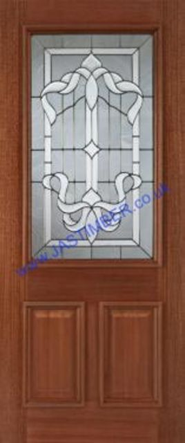 Cleveland Glazed Doors: 1-light *Triple Glazed* Hardwood 44mm External Door - Mendes Doors