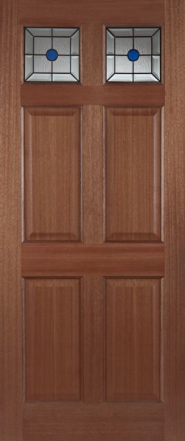 Colonial Top Light Glazed Door: 2-light *Triple Glazed* Hardwood 44mm External Door - Mendes Doors