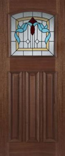 Edinburgh Glazed Door: 1-light *Triple Glazed* Hardwood 44mm External Door - Mendes Doors