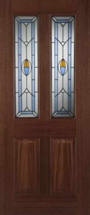 Edwardian Blue Glazed Hardwood External Doors