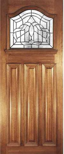 Estate Crown Glazed Door: 1-light *Triple Glazed* Hardwood 44mm External Door - Mendes Doors
