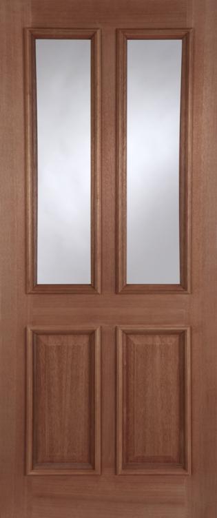 Derby 2-light Unglazed Hardwood External Doors ... & Derby Unglazed Hardwood External Door pezcame.com