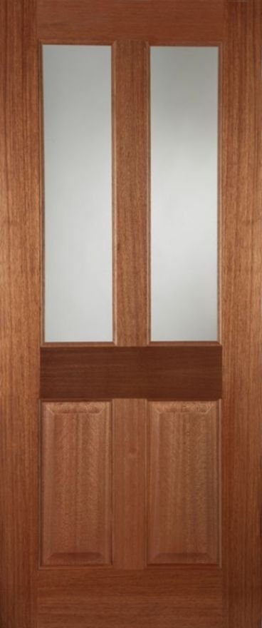 Edwardian Unglazed Hardwood External Doors
