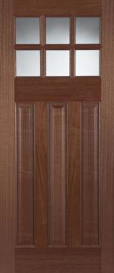 Pattern 664 Unglazed Hardwood External Doors
