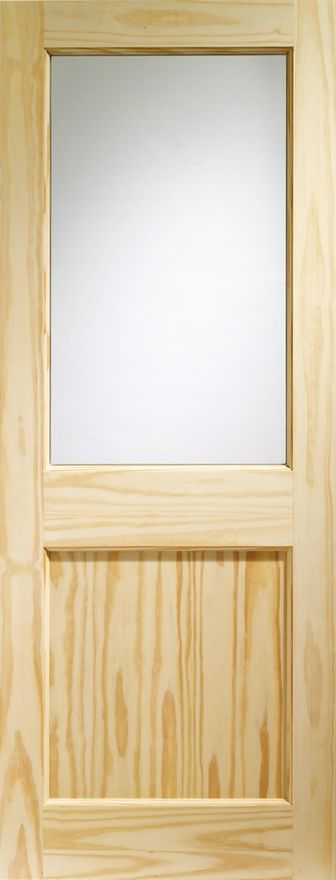 2XG Glazed Door: 1-light *Clear Glazed* Pine 44mm External Door - XL Doors
