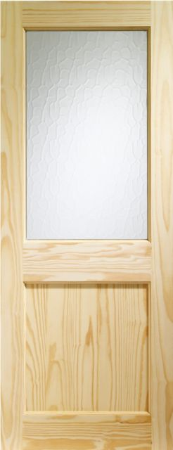 2XG Glazed Door: 1-light *Flemish Glazed* Pine 44mm External Door - XL Doors