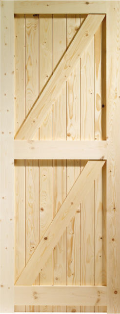 FLB Framed Ledged & Braced Knotty Pine External Door / Gate - XL Doors