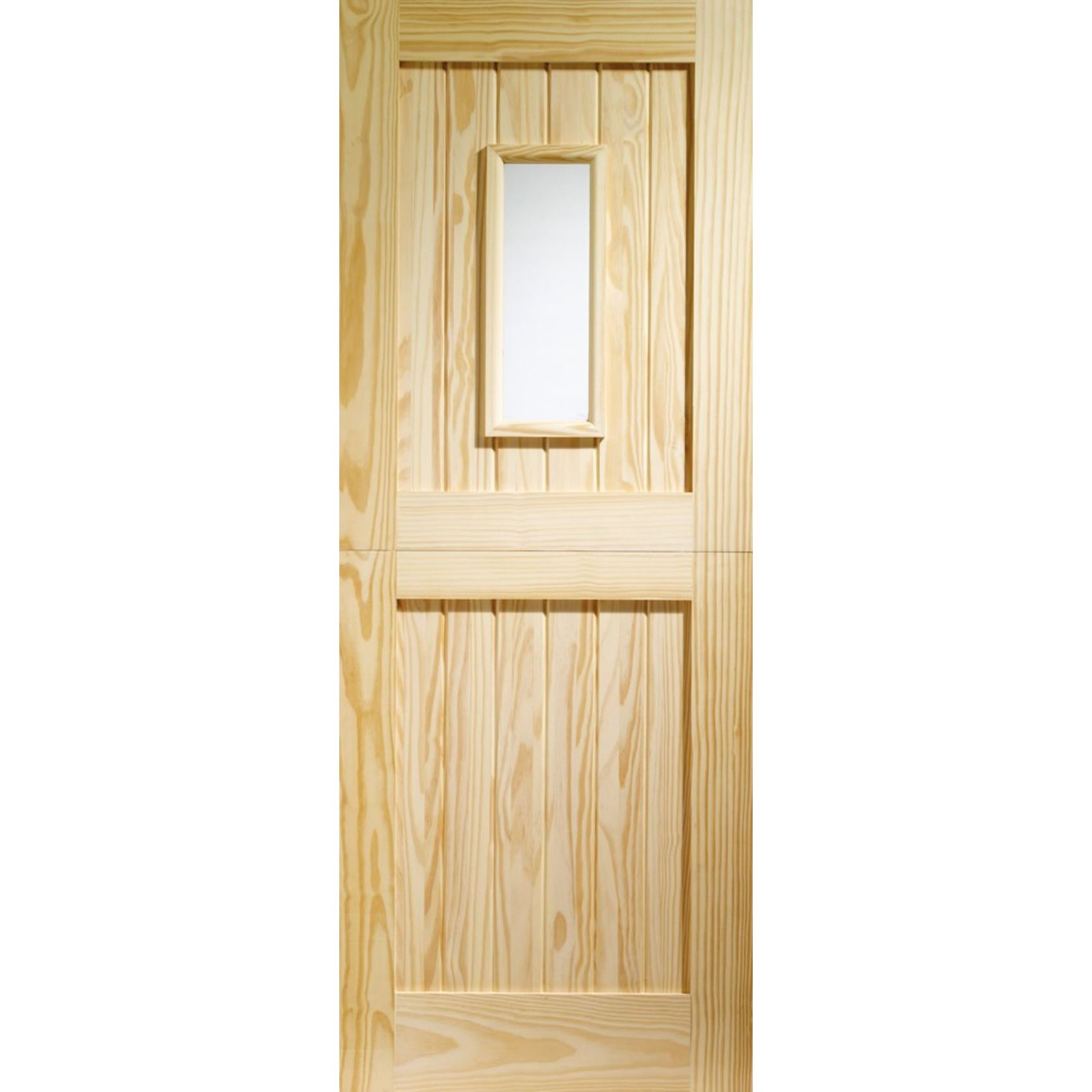 Stable Glazed Door: 1-light *Clear Glazed* Pine 44mm External Door - XL Doors