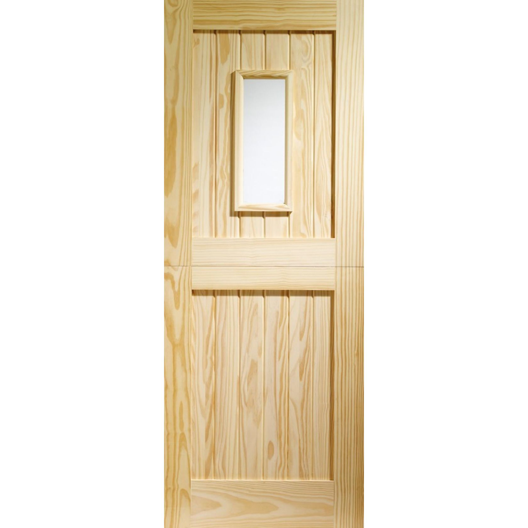Stable 1-light Clear Glazed Clear Pine External Door
