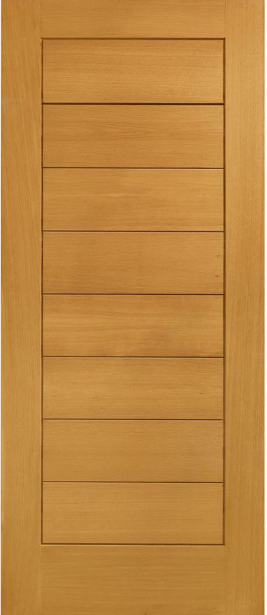 Modena V-Groove Pre-Finished Oak Ext. Door