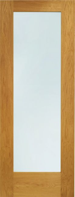 Pattern 10 Glazed Door: 1-light *Clear Double Glazed* *Pre-Finished Oak* 44mm External Door - XL Doors