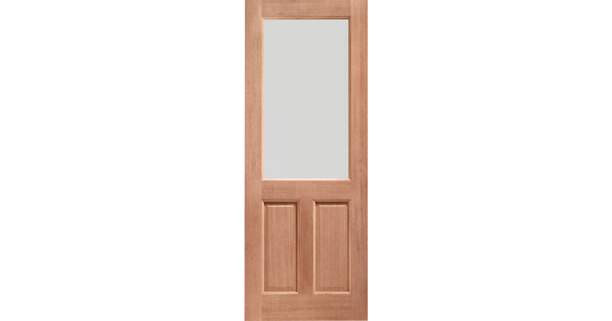 2XG 1-light Clear Glazed Hardwood External Doors