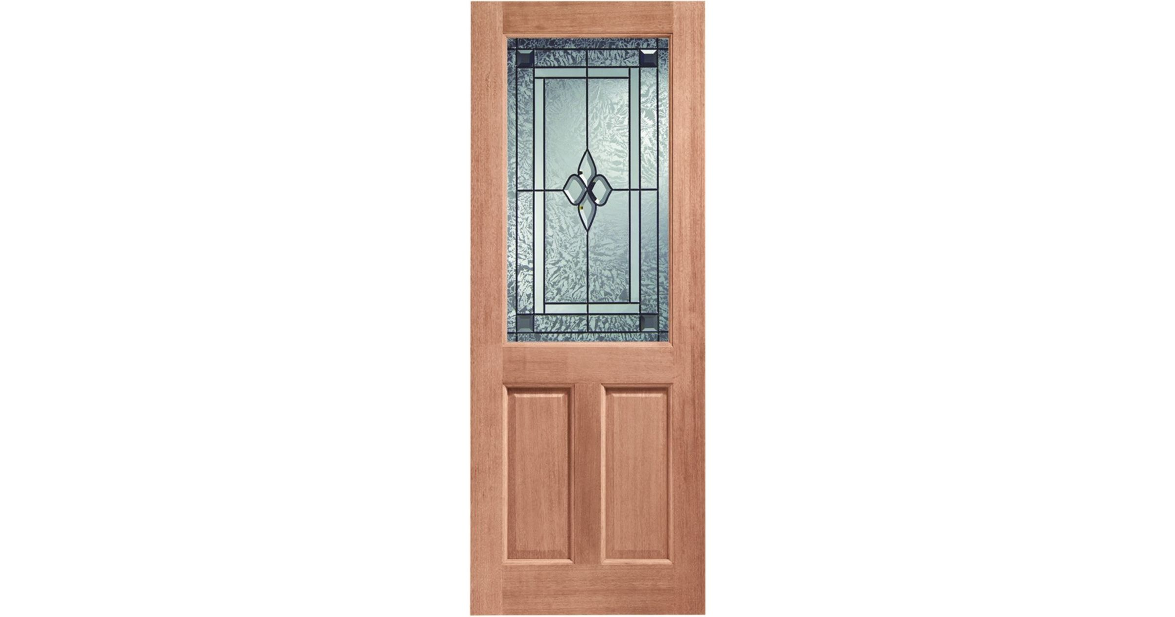 2XG 1-light Coleridge DG Hardwood External Door