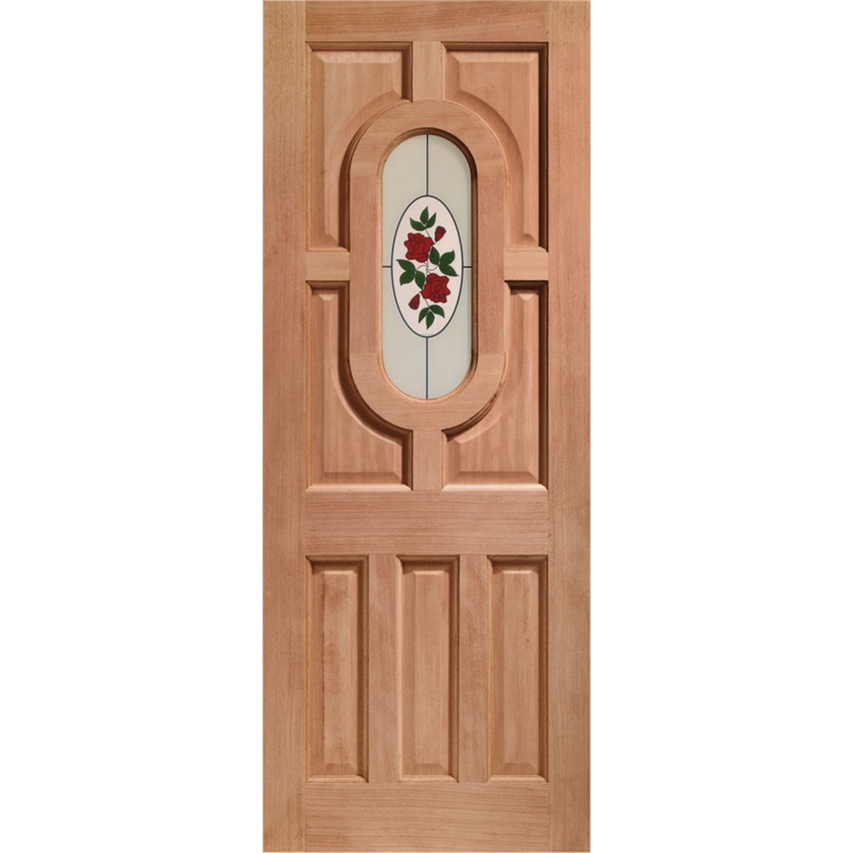 Acacia Glazed Door: 1-light *Byron Single Glazed* [Hardwood] 44mm Dowel External - XL Doors
