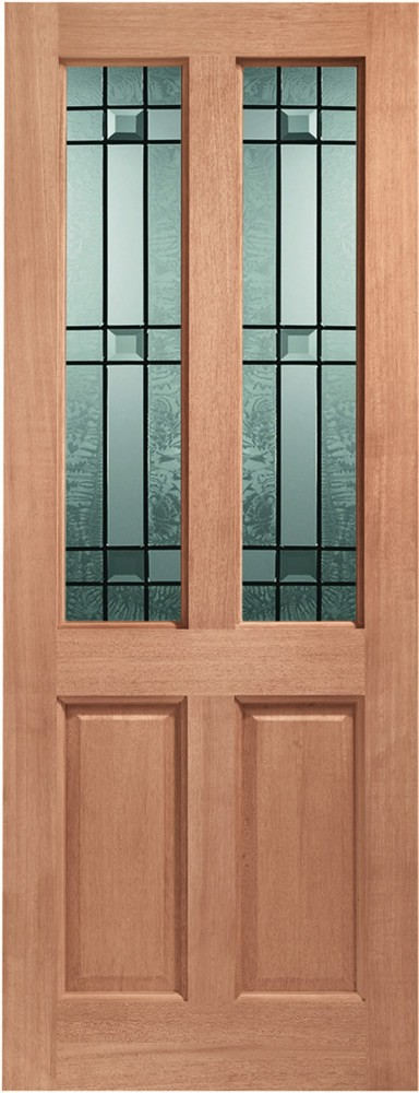 Malton Glazed Door: 2-light *Drydon DG* 44mm [Hardwood] Dowel External Door - XL Doors