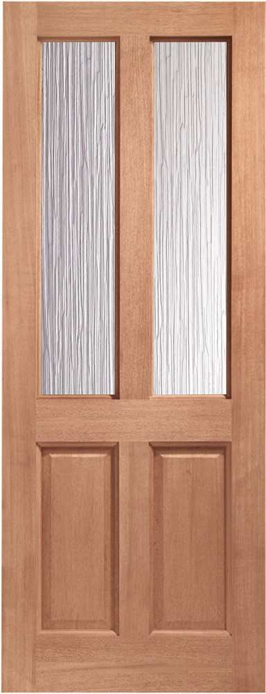 Malton Glazed Door: 2-light *Obscure DG* 44mm [Hardwood] Dowel External Door - XL Doors