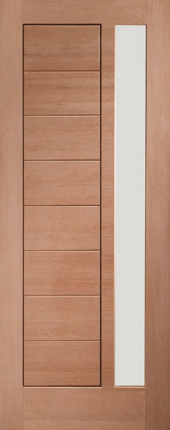 Modena Glazed Door: 1-light *Obscure Double Glazed* [Hardwood] 44mm M&T External Door - XL Doors