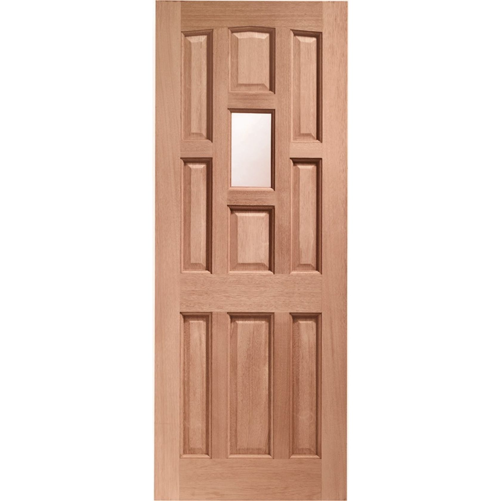 York Glazed Door: 1-light *Obscure Single Glazed* [Hardwood] 44mm Dowel External Door - XL Doors
