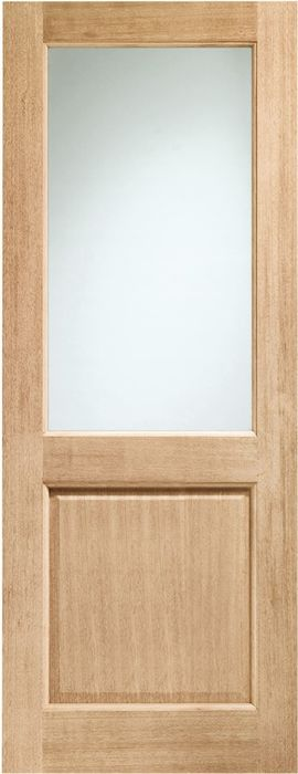 2XG Glazed Door: 1-light *Double Glazed* *Unfinished Oak* Dowel 44mm External Door - XL Doors