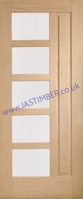 Lucca 5-light Glazed Oak External Door - XL Joinery