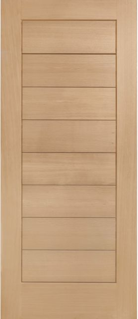 Modena Door: V-groove Panel *Unfinished Oak* 44mm M&T External Door - XL Doors