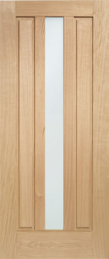Padova Glazed Door: 1-Light *Double Glazed* *Unfinished Oak* 44mm External - XL Doors