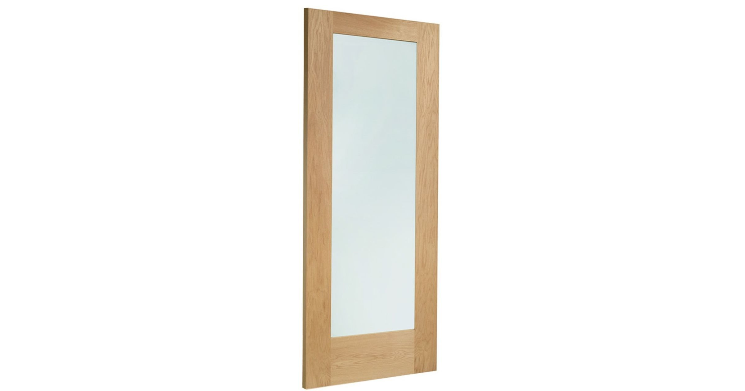Pattern 10 Glazed Door: 1-light *Double Glazed* *Unfinished Oak* Dowel 44mm External Door - XL Doors