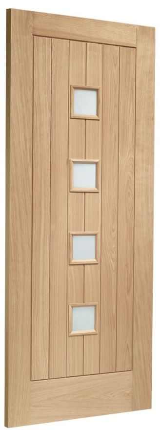 Siena Double-Glazed Oak External Door