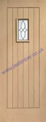 Chancery Oak Black-Came Glazed Door - XL