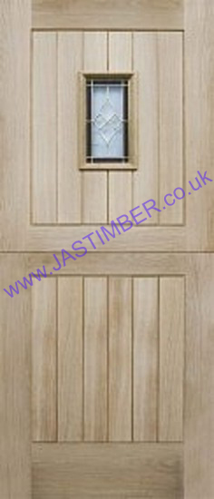 Chancery Stable Glazed Oak Door