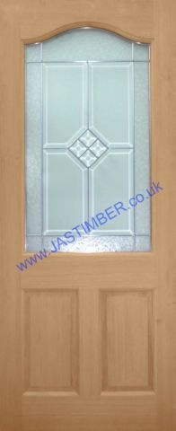 Canterbury Triple-Glazed Oak External Door