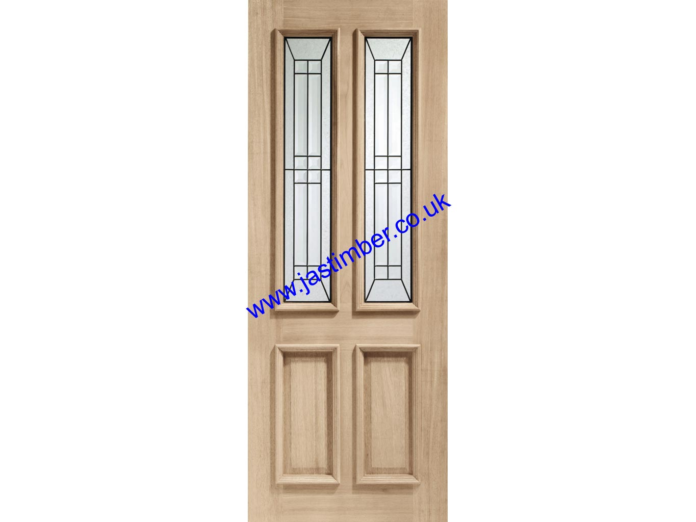 XL Malton Oak Triple-Glazed Diamond M&T Door