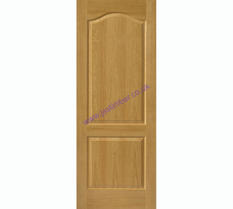 Turmeric FD30 2-Panel Oak Internal Fire Door - JB Kind Doors
