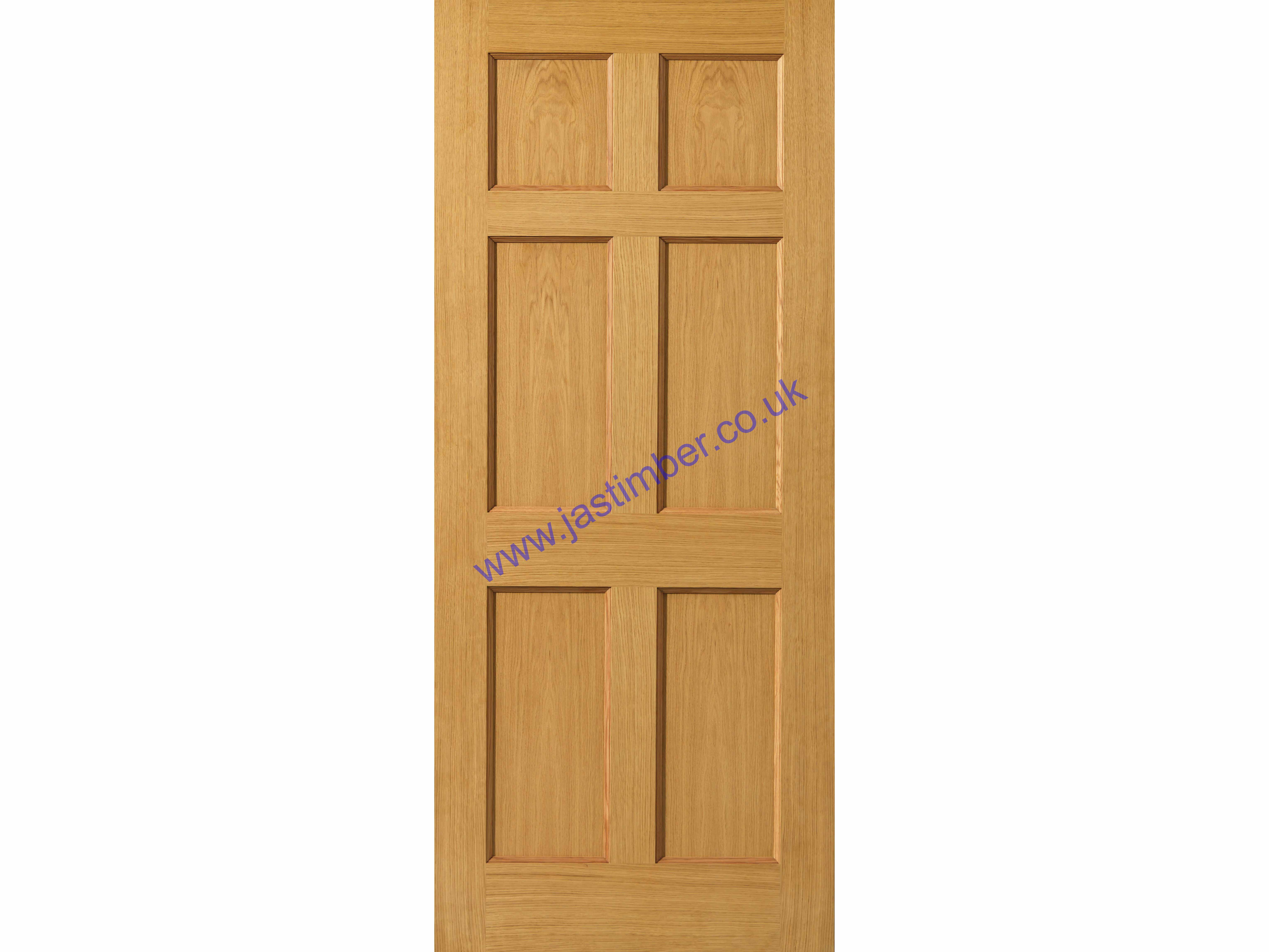 Tyne Fire Door FD30 Oak 44mm Internal - JB Kind Doors