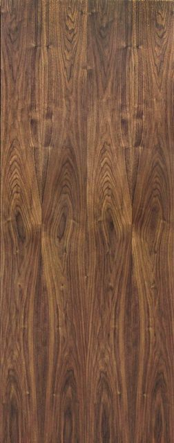 Walnut FD30 Veneer Fire Door: Flush PF.Walnut Internal 44mm Firecheck - JB Kind Fire Doors