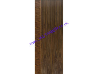 Photography of MAYETTE FIRE DOOR: FD30 Flush WALNUT 44mm Internal Pre-Finished Door - JB Kind Walnut Flush Fire Doors
