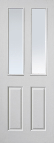Canterbury FD30 2-light Glazed White Moulded Fire Door