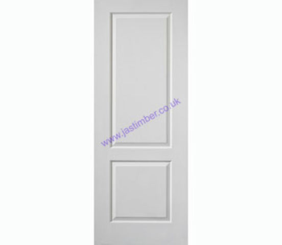Caprice FD30 2-Panel White Woodgrain Internal Fire Doors - JB Kind Doors